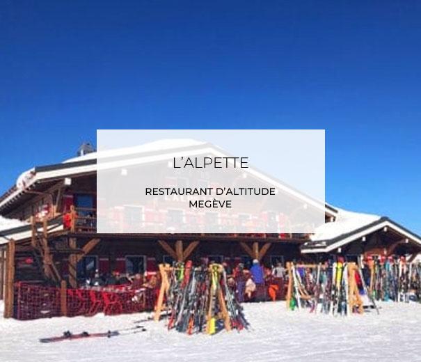 Alpette Restaurant Megève